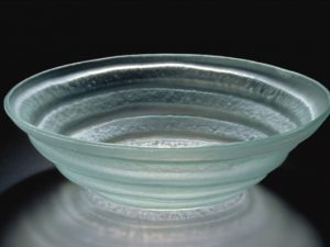 Spiral Bowl, frosted glass