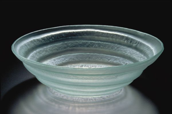 Spiral Bowl, frosted