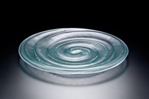 Spiral Plate, semi frosted