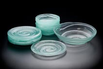 Set of Spiral Dishes