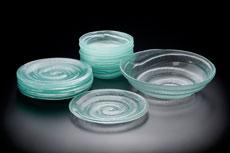 Set of tableware, Spiral design