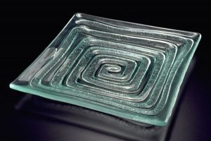 "Glass Platter ""Labyrinth"""