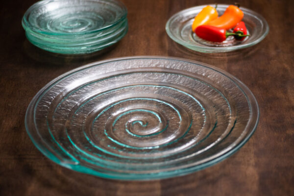 Spiral Glass Plate, clear