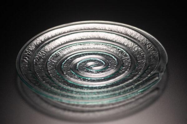 Spiral Glass Platter