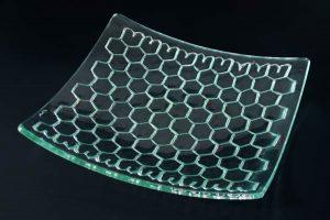 Honeycomb Glass Platter