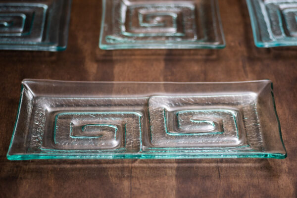 "Glass Platter ""Double Labyrinth"""