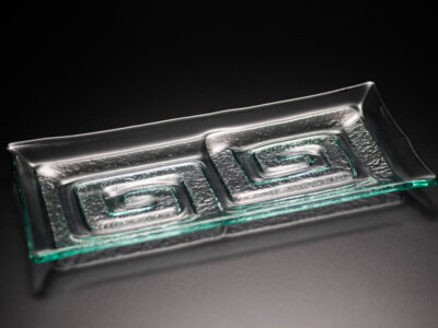 "Glass Platter ""Double Labyrinth"""