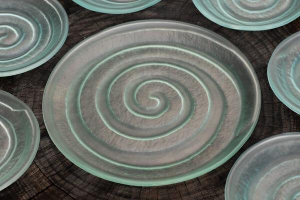 Spiral Platter, frosted