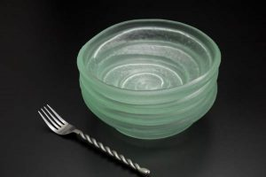 Recycled-Glass-Bowls-set-slightly-frosted