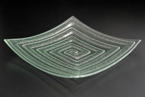 recycled-glass-serving-platter-Labyrinth-frosted-square